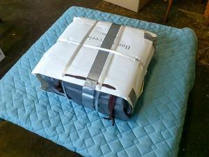 座面を送る際の梱包例